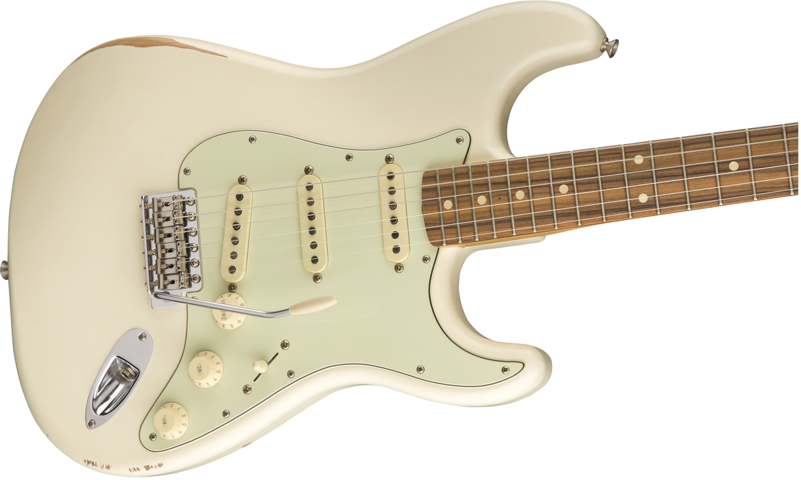 Fender Road Worn '60s Stratocaster Pau Ferro Fingerboard Olympic White Electric Guitar With Bag