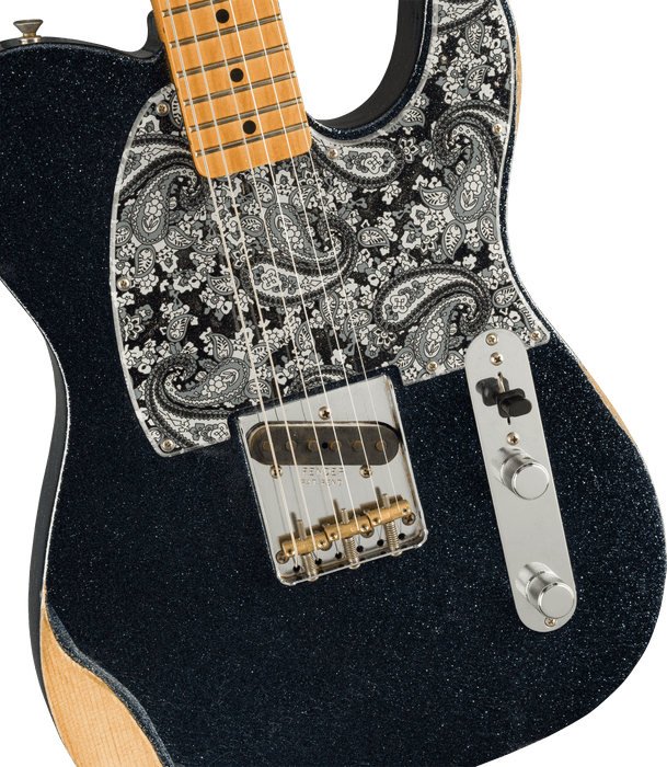 Fender Brad Paisley Esquire Maple Black Sparkle Electric Guitar With Bag