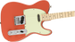 Fender Limited Edition Tenor Tele Maple Fingerboard Fiesta Red Electric Guitar With Bag
