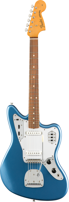 Fender Classic Series 60's Jaguar Pau Ferro Fingerboard Lacquer Lake Placid Blue Finish With Hard Case