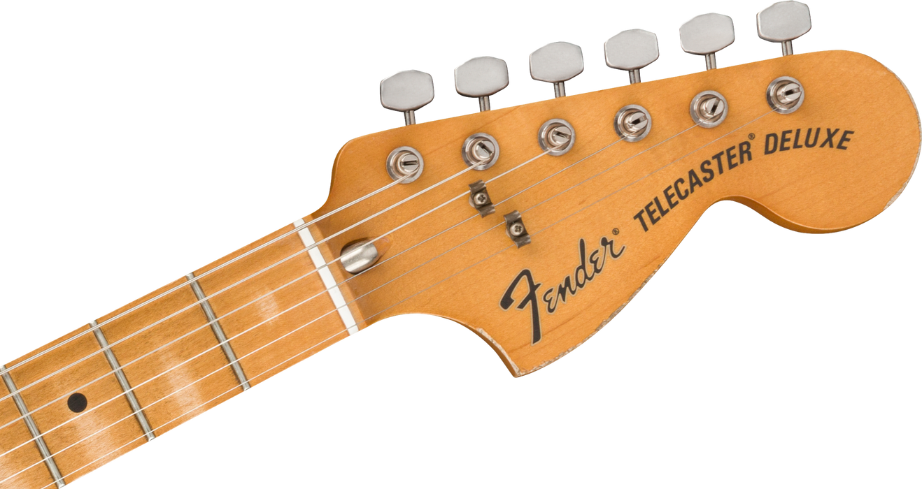 Fender Vintera Road Worn '70s Telecaster Deluxe Maple Fingerboard Olympic White Electric Guitar With Bag