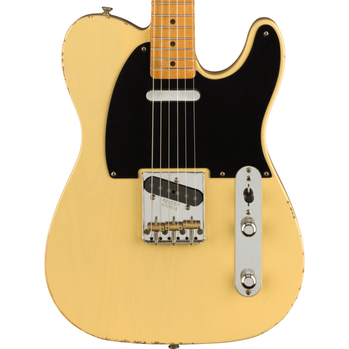Fender Vintera Road Worn '50s Telecaster Maple Fingerboard Vintage Blonde Electric Guitar With Bag