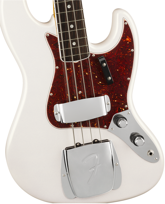 Fender 60th Anniversary Jazz Bass Rosewood Fingerboard Arctic Pearl With Case