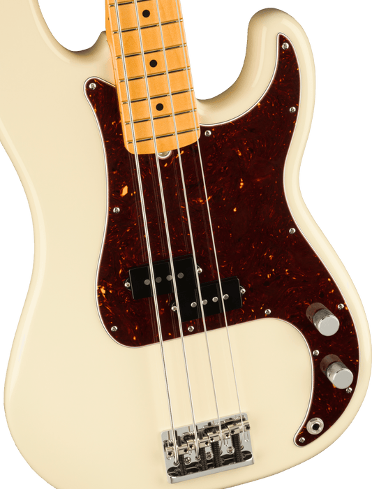 Fender American Professional II Precision Bass Maple Fingerboard Olympic White With Case