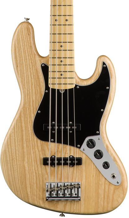 Fender American Professional Jazz Bass V 5 String Natural Maple Fingerboard With Case