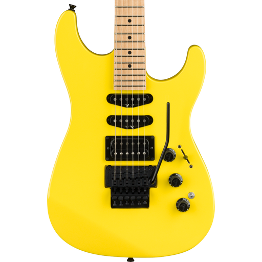 Fender Limited Edition HM Strat Maple Fingerboard Frozen Yellow Electric Guitar
