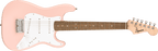 Squier Mini Stratocaster Laurel Fingerboard Shell Pink Electric Guitar