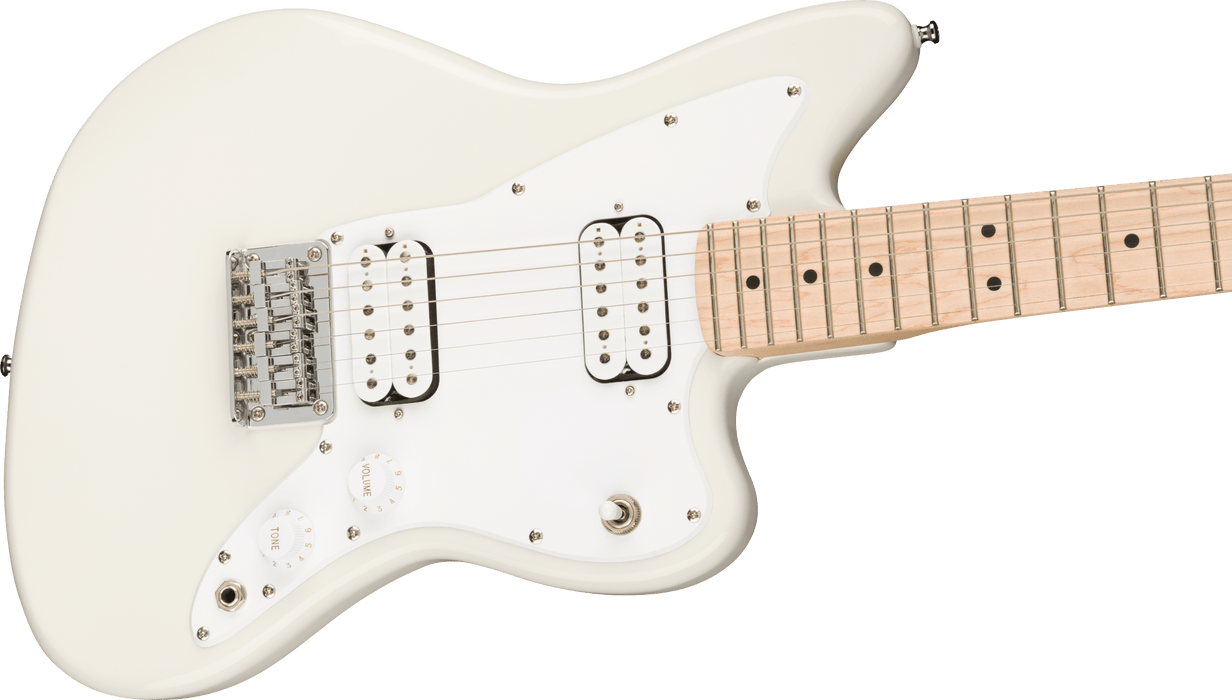 Squier Mini Jazzmaster HH Maple Fingerboard Olympic White Electric Guitar