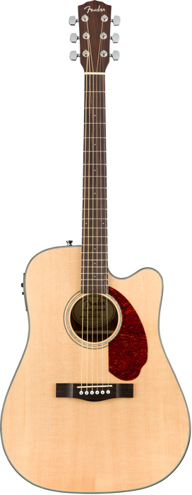 Fender CD-140SCE Cutaway Acoustic Electric Guitar Natural Finish With Case