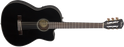 Fender CN-140SCE Acoustic Electric Nylon String Guitar Black With Case