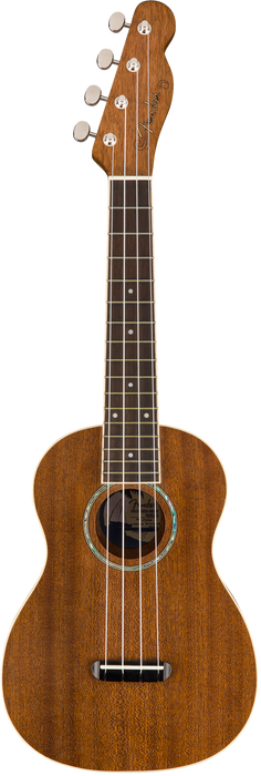 DISC - Fender Zuma Concert Ukulele Natural Laminated Sapele Finish Rosewood Fingerboard