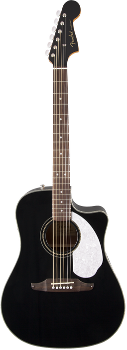 Fender Sonoran SCE Black with Matching Headstock
