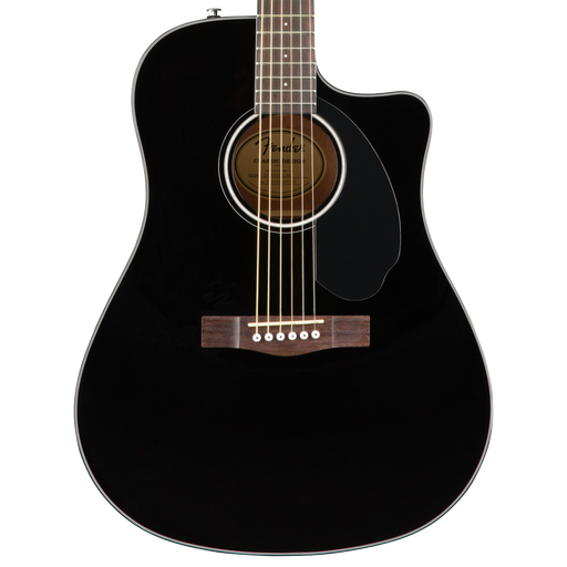 Fender CD-60SCE Dreadnought Walnut Fingerboard Black Acoustic Guitar