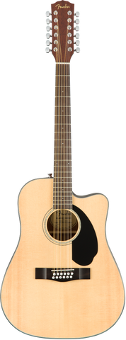 Fender CD-60SCE Dreadnought 12-String Acoustic Electric Guitar Walnut Fingerboard Natural