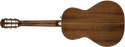 DISC - Fender PM-2E Parlor Size All Mahogany Acoustic Electric Guitar Antique Cognac Burst