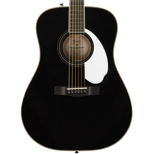 Fender FSR PM-1E Dreadnaught Black Acoustic Guitar With Case
