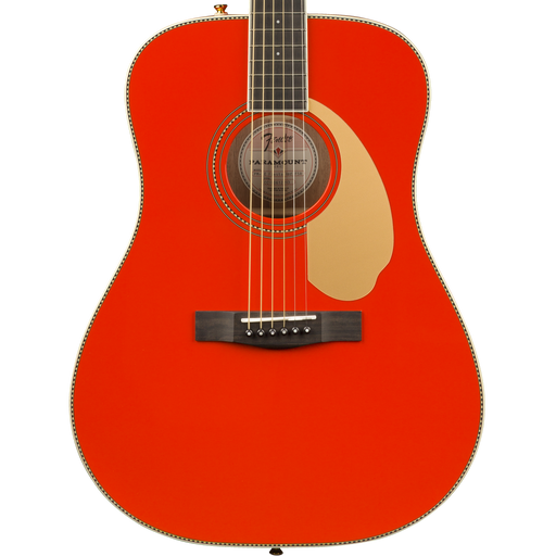 Fender FSR PM-1E Dreadnaught Fiesta Red Acoustic Guitar With Case