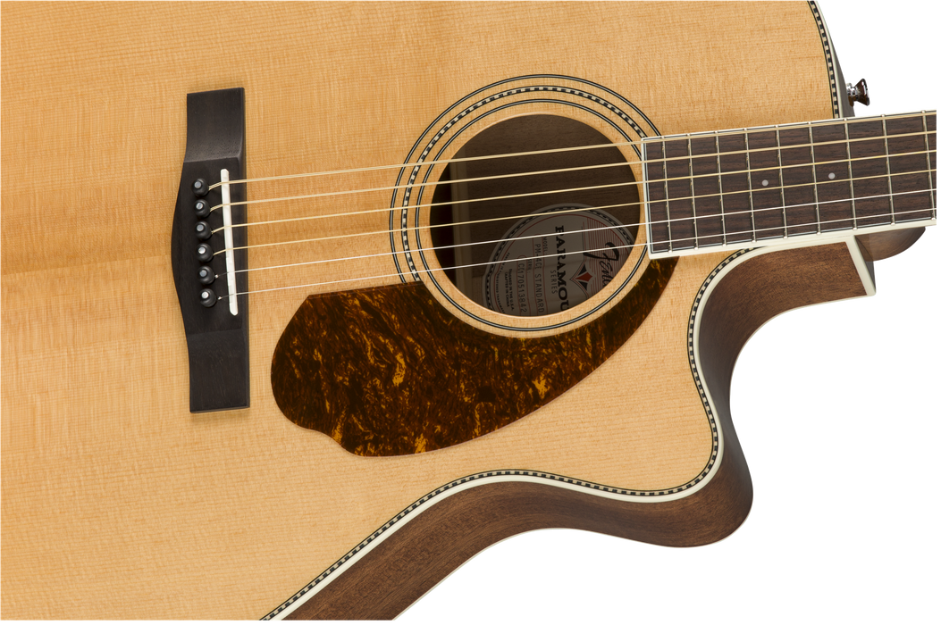 Fender PM-4CE Auditorium Limited Ovangkol Fingerboard Natural Acoustic Guitar With Case