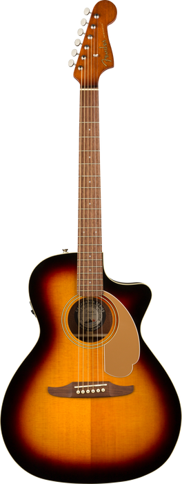 Fender Newporter Player Walnut Fingerboard Sunburst Acoustic Guitar