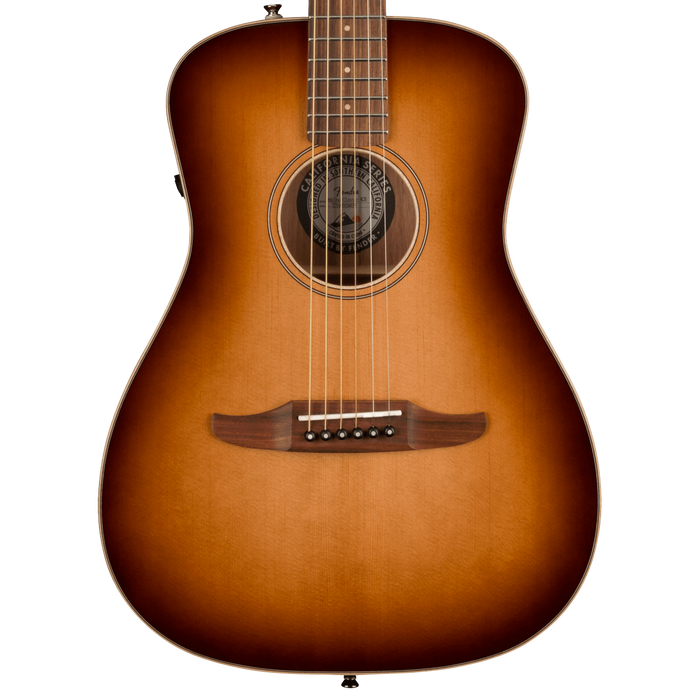 Fender Malibu Classic Pau Ferro Fingerboard Aged Cherry Burst Acoustic Guitar With Bag