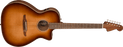Fender Newporter Classic Pau Ferro Fingerboard Aged Cherry Burst Acoustic Guitar With Bag