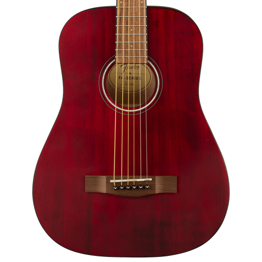 Fender FA-15 3/4 Scale Steel Walnut Fingerboard Red Acoustic Guitar With Gig Bag
