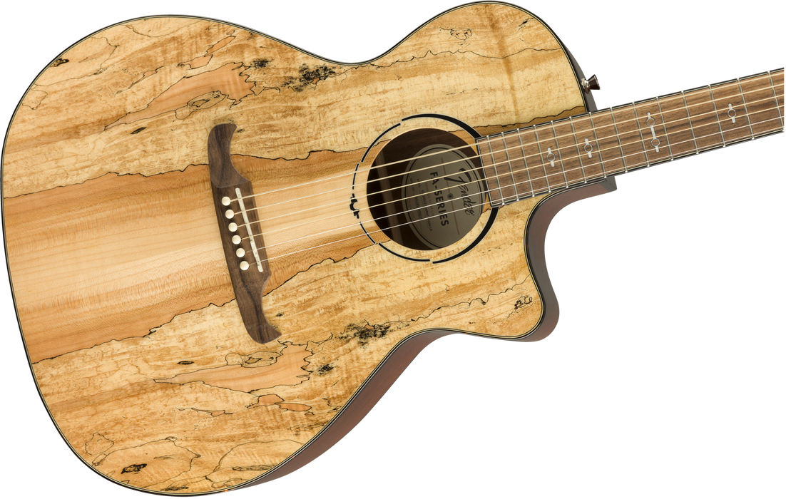 Fender 2019 Limited Edition FA-345CE Auditorium Spalted Maple Top Laurel Fingerboard Natural