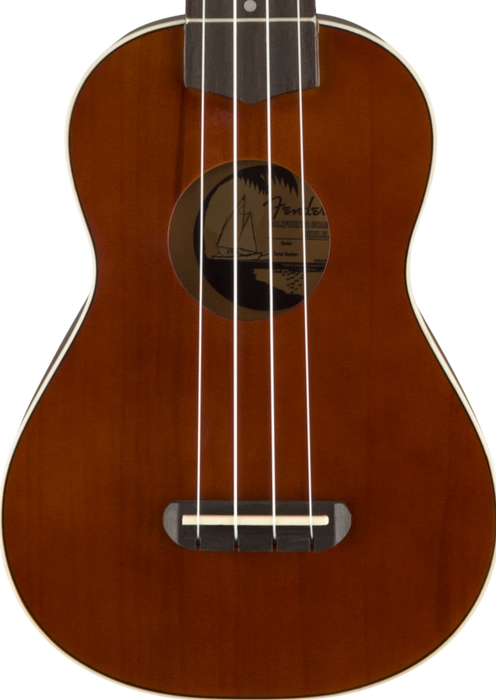 DISC - Fender Venice Soprano Ukulele Natural Basswood Finish Ukulele