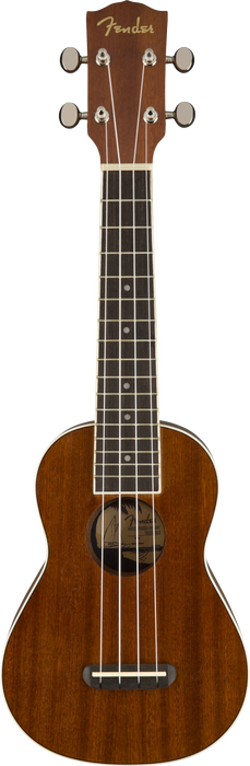 Fender Seaside Soprano Ukulele Natural Laminated Mahogany Finish Uke
