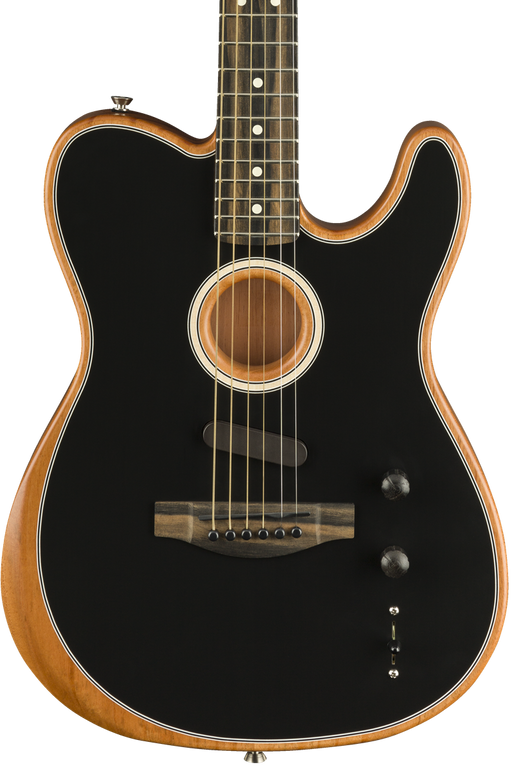 Fender American Acoustasonic Telecaster Black With Deluxe Gig Bag