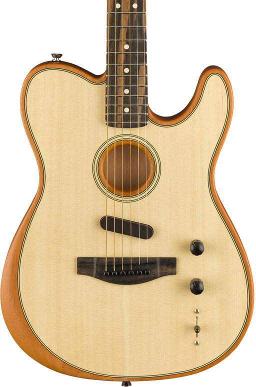 Fender American Acoustasonic Telecaster Natural With Deluxe Gig Bag