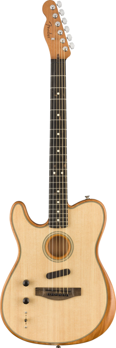 Fender American Acoustasonic Telecaster Left-Handed Ebony Fingerboard Natural Acoustic Electric Guitar