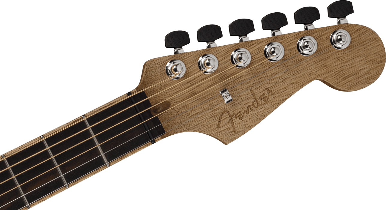 Fender American Acoustasonic Strat Ebony Fingerboard Cocobolo Acoustic Electric Guitar With Case