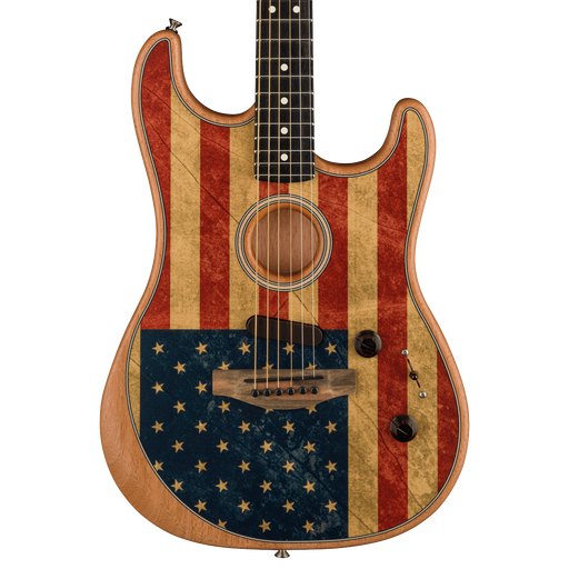 Fender Limited Edition American Acoustasonic Stratocaster American Flag In Stock