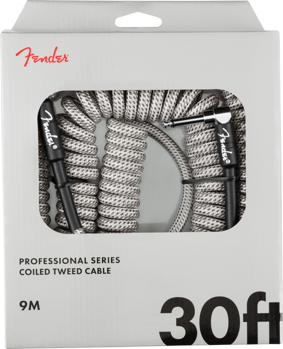 Fender Professional Coil Cable 30' White Tweed - 990823023