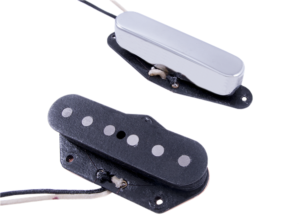 Fender Custom Shop Blackguard Telecaster Pickups Set - Chrome/Black (2)