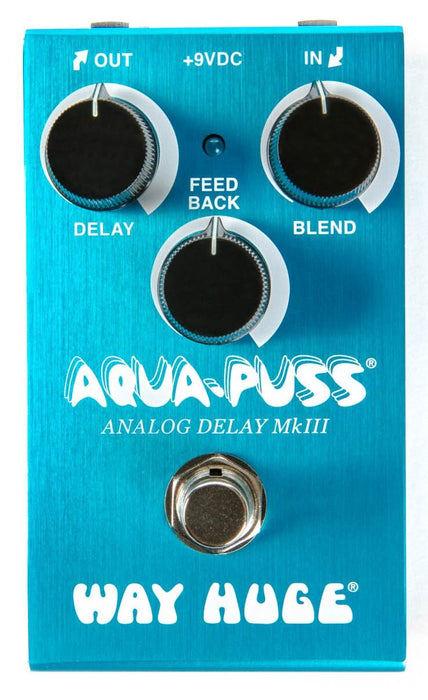 Way Huge Smalls WM71 Aqua Puss Analog Delay Mk III Guitar Effect Pedal Dunlop