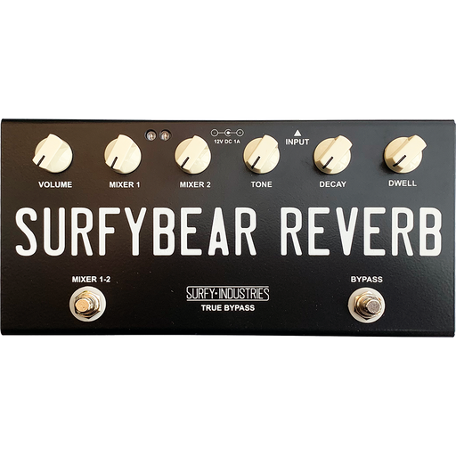Surfy Industries SurfyBear Compact Tank Black Reverb Guitar Effect Pedal