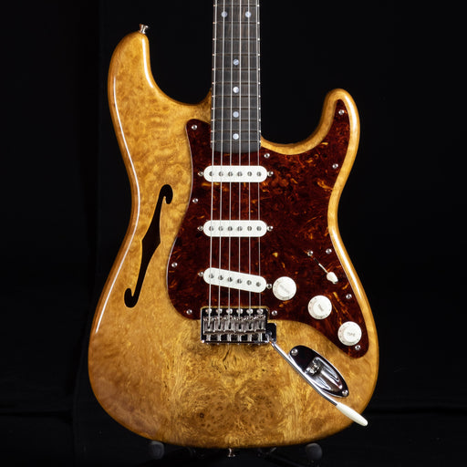 Fender Custom Shop Artisan Thinline Stratocaster Roasted Ash Body Spalted Maple Top Aged Natural