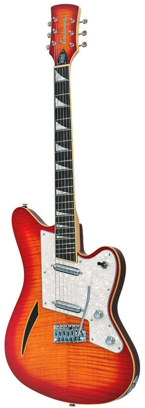 Eastwood Surfcaster Guitar - Cherrysunburst