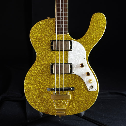 Used Musicvox Super Sparkle Spaceranger Bass Gold Sparkle/Gold Hardware