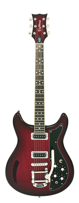 Eastwood Airline Custom K-200 Deluxe Chambered Guitar Redburst