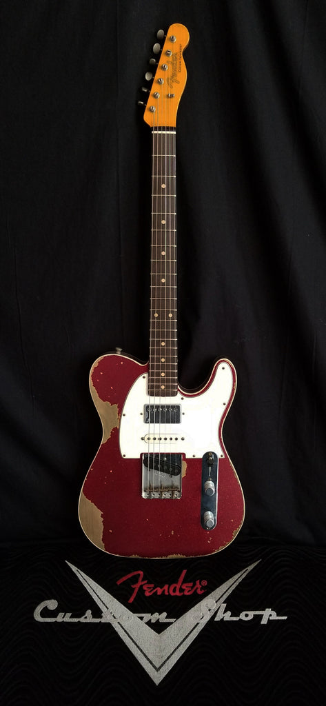 Fender Custom Shop '60s Heavy Relic Nashville Telecaster Custom SSH with Rosewood Fretboard Red Sparkle
