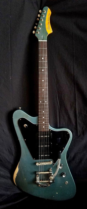 Fano Alt De Facto PX6 390 P-90 Pickups Pelham Blue Medium Distress W/ OHSC