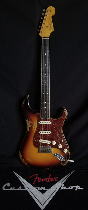 Fender Custom Shop Limited Edition 60's Bound Neck Stratocaster Heavy Relic Rosewood 3-Tone Sunburst