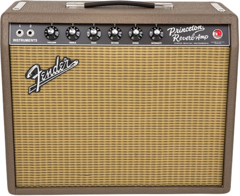 "Fender '65 Princeton Reverb Limited Edition Fudge Brownie 15W 1x10"" Guitar Combo Amp"