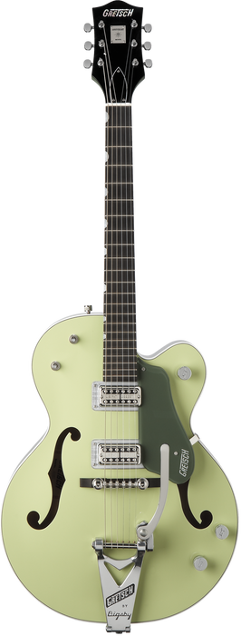 Gretsch G6118T Anniversary Ebony Fingerboard Two-Tone Smoke Green with Bigsby