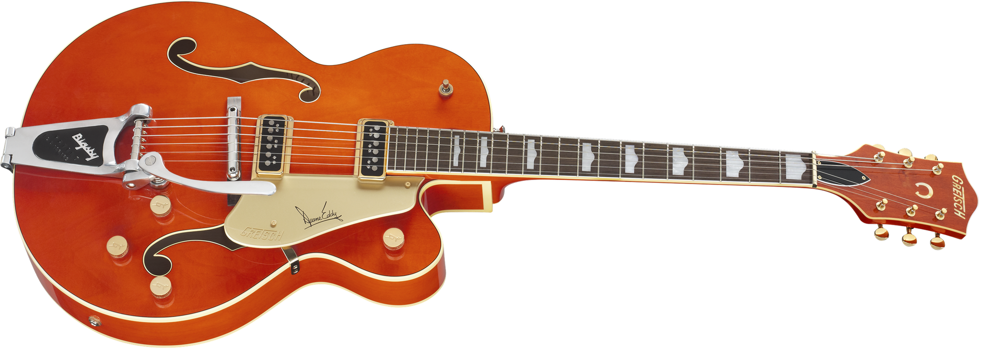 Gretsch G6120DE Duane Eddy Signature Hollow Body with Bigsby Desert Sunrise