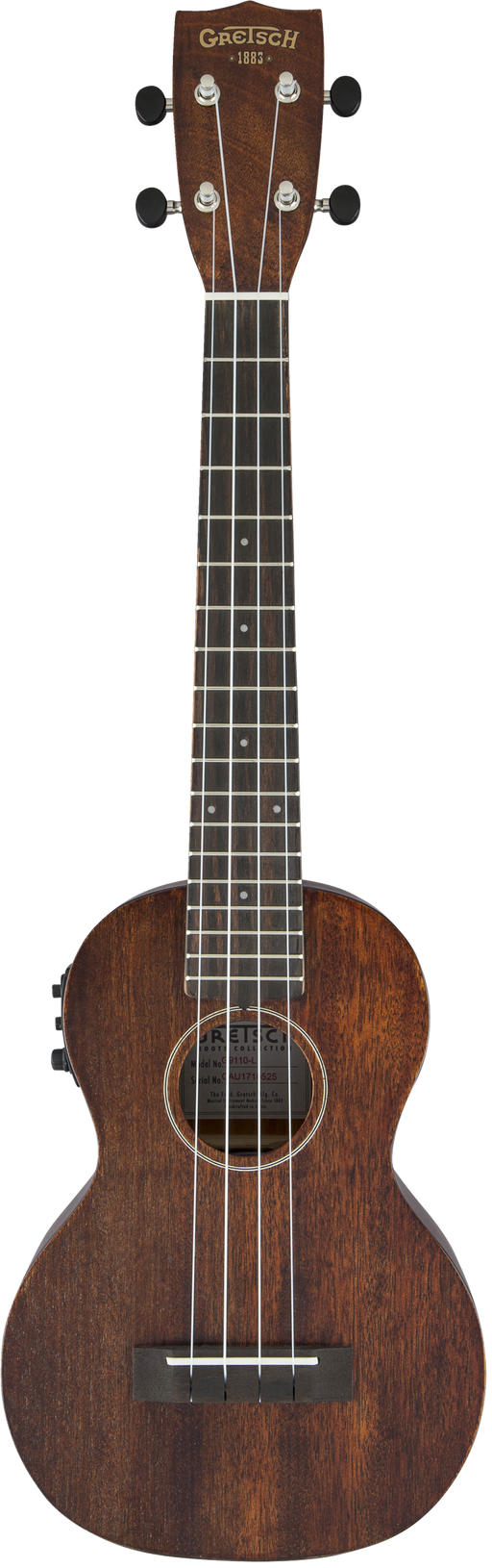 Gretsch G9110-L Concert Long-Neck A.E. Ukulele with Gig Bag Fishman Kula