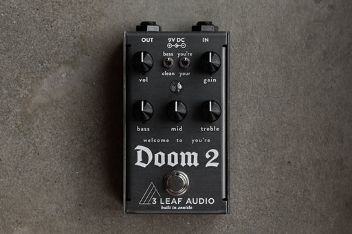 3Leaf Audio Doom 2 Harmonic Fuzz Guitar Effect Pedal